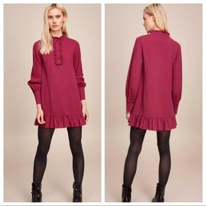 NWT The Fifth Label Radiate Shirt Dress Purple S